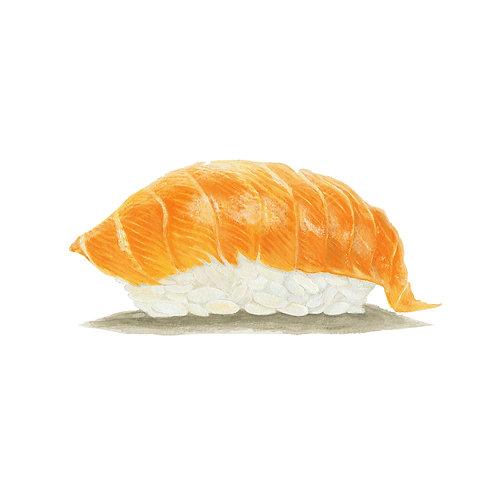 """""""SAKE"""" (Salmon Sushi)         (8.25"""" x 8.25"""")"""
