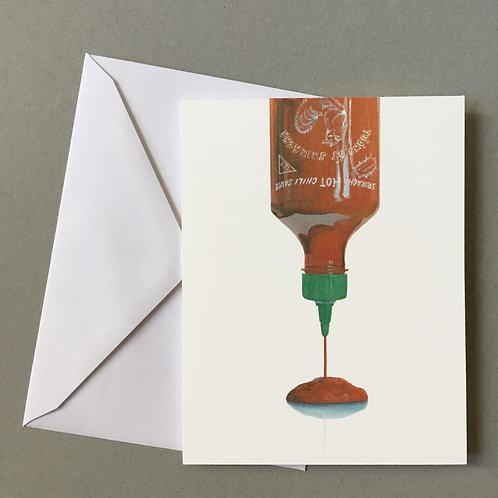 """Sriracha"", Blank Card"