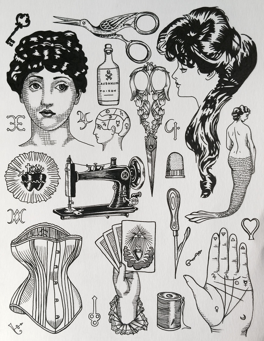 Victorian Spiritualism and Sewing Flash