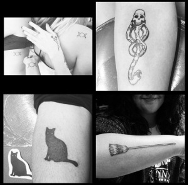 Triple Goddess Witch tattoos