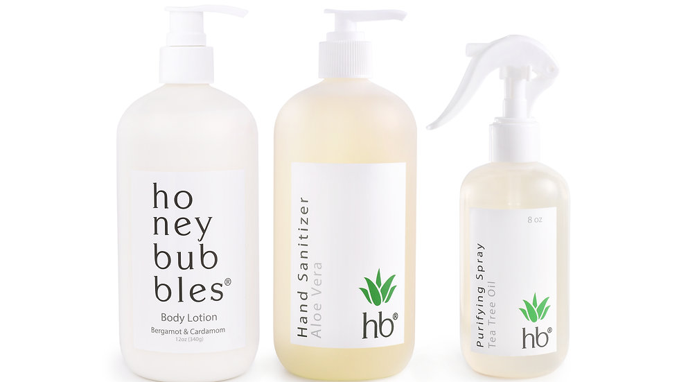 Trio: Lotion, Hand Sanitizer & Spray Purifying