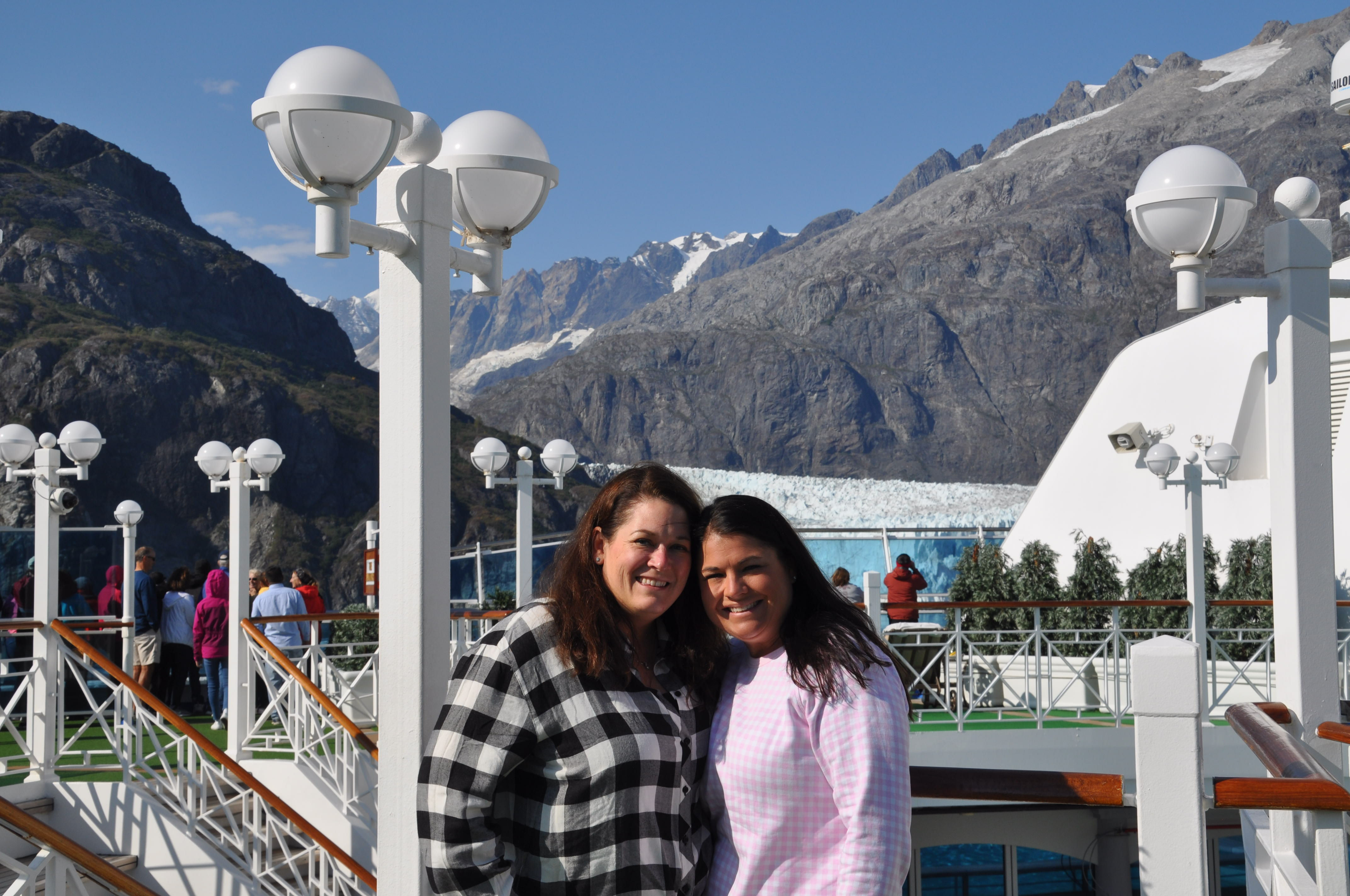 Stephanie and sister-in-law Megan in Alaska