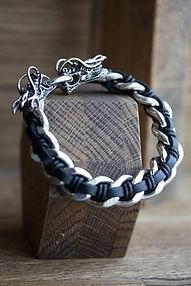 EX Bracelet or et cuir