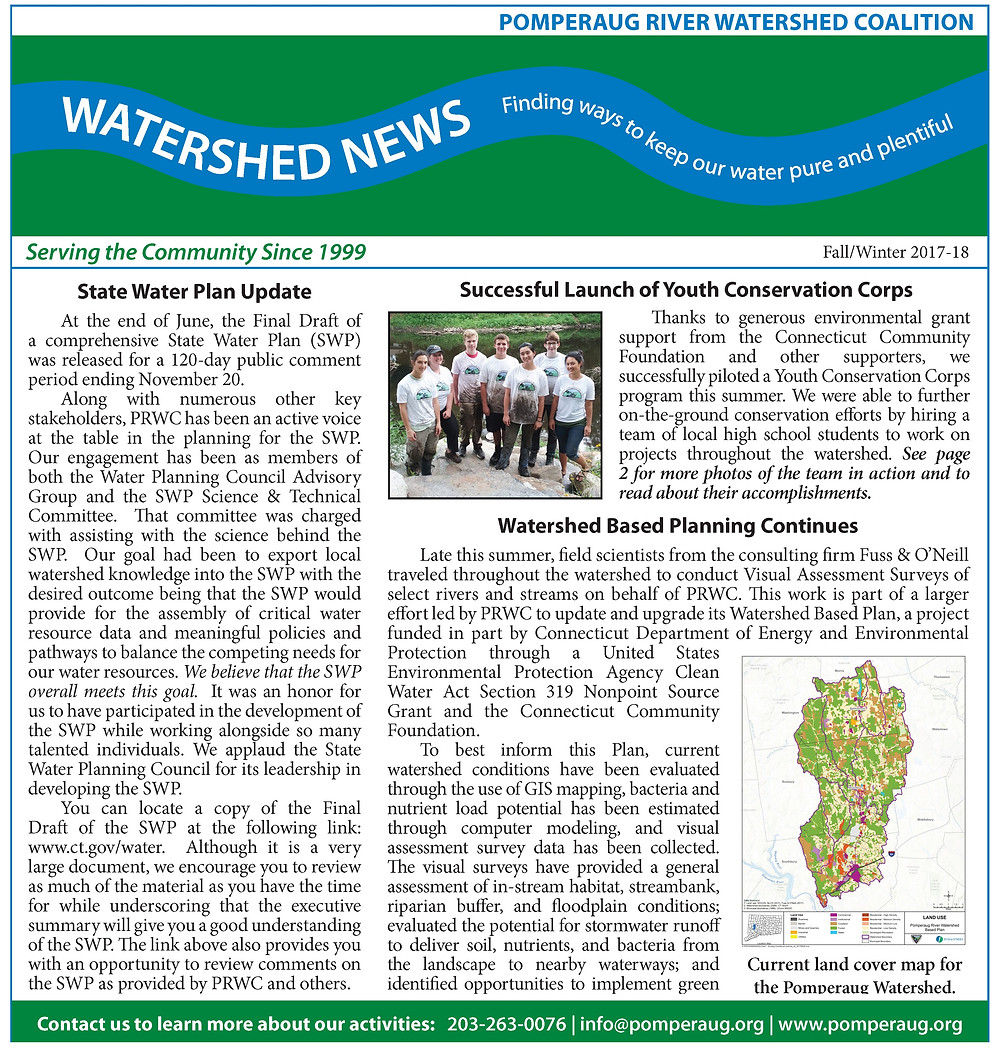 Watershed News Fall/Winter 2017