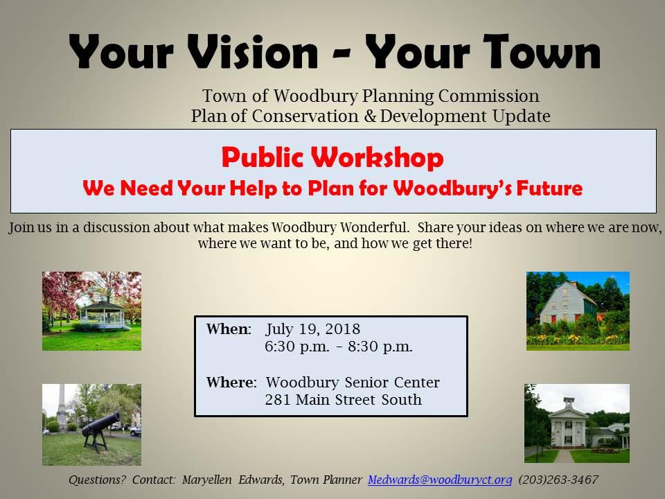 Woodbury Planning Commission Public Workshops