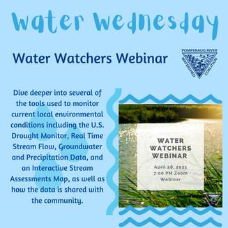 """Water Watchers"" Webinar on Seasonal Water Monitoring"