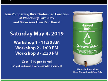 Project Rain Barrel Workshops Offered at Woodbury Earth Day Festival