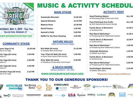 Woodbury Earth Day Festival Activities