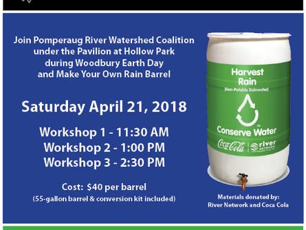PRWC Rain Barrel Workshops at Woodbury Earth Day