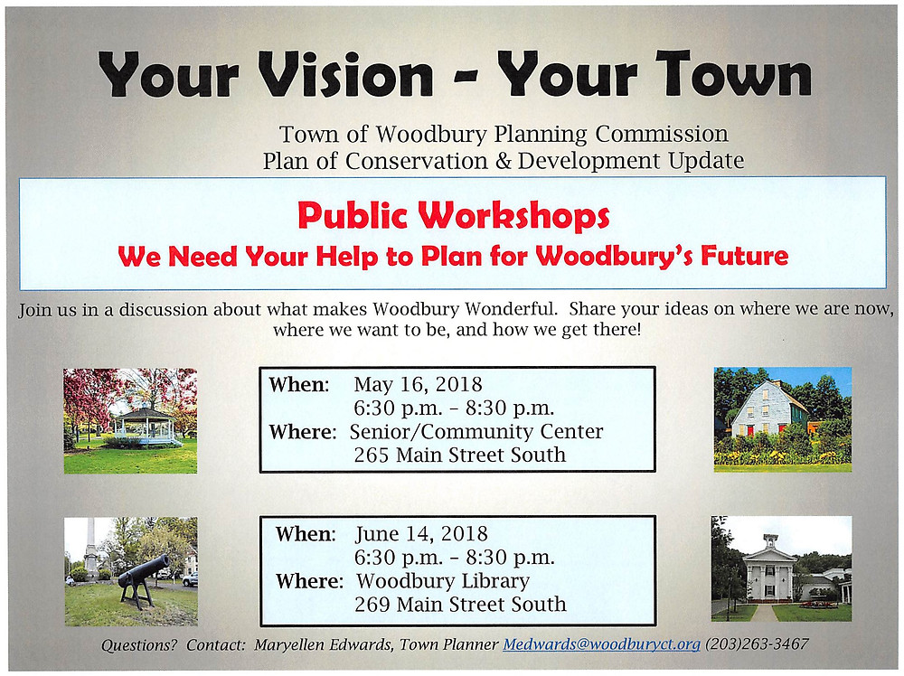 Woodbury Planning Commission Public Workshops
