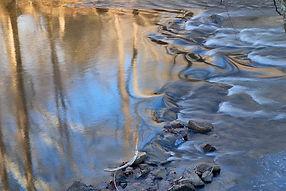Pomperaug River Flowing through Platt Farm, Southbury, CT