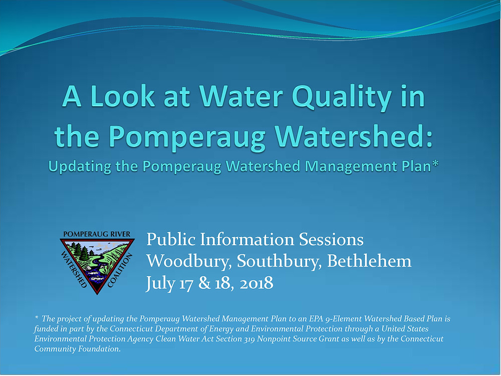 Pomperaug Watershed Based Plan