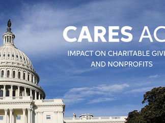CARES Act Extension for 2021 on Charitable Giving Incentives