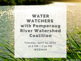 Water Watchers with Pomperaug River Watershed Coalition- NOW WEBINAR