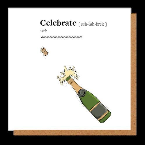 Celebrate Definition Card