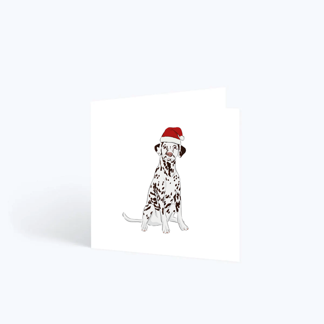Dalmation Christmas Card