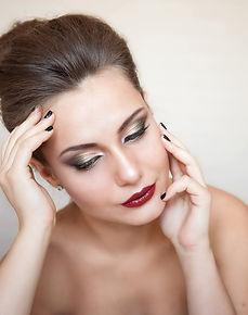 вечерний макияж, сияющий макияж