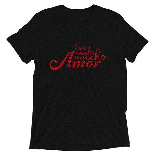 Con Mucho Mucho Amor tr-blend short sleeve tea-shirt