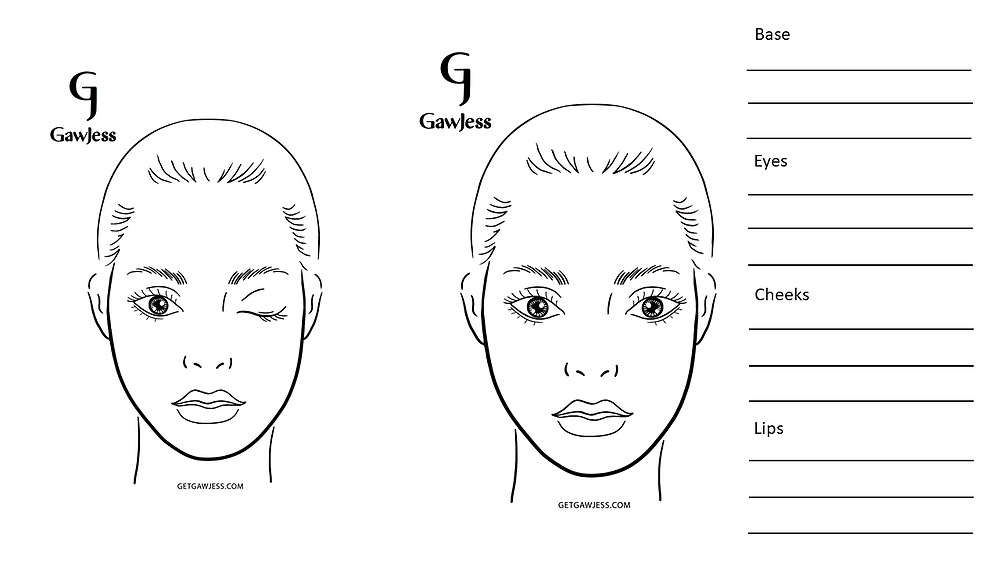 free face chart for download
