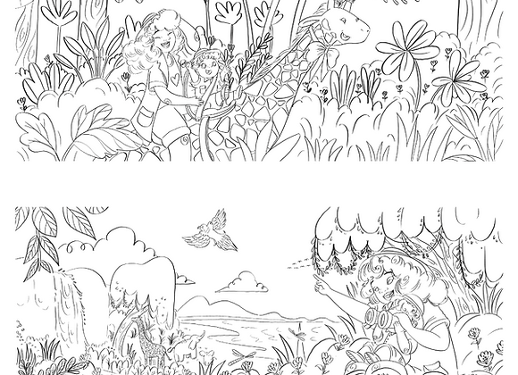 Safari Dreams Coloring Pages