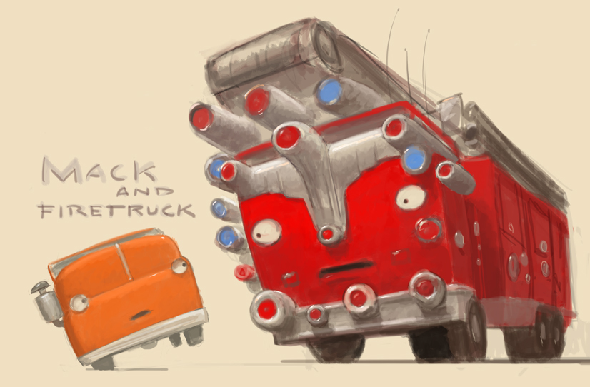 Mack and Firetruck; Trucktown