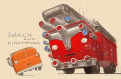 Mack and Firetruck; Trucktown