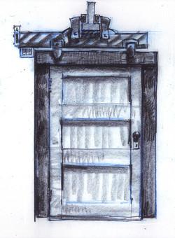 Monsters, Inc. Closet Door Sketch