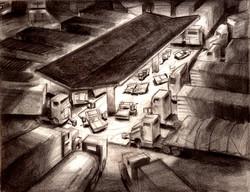 Cars sketch by David Gordon