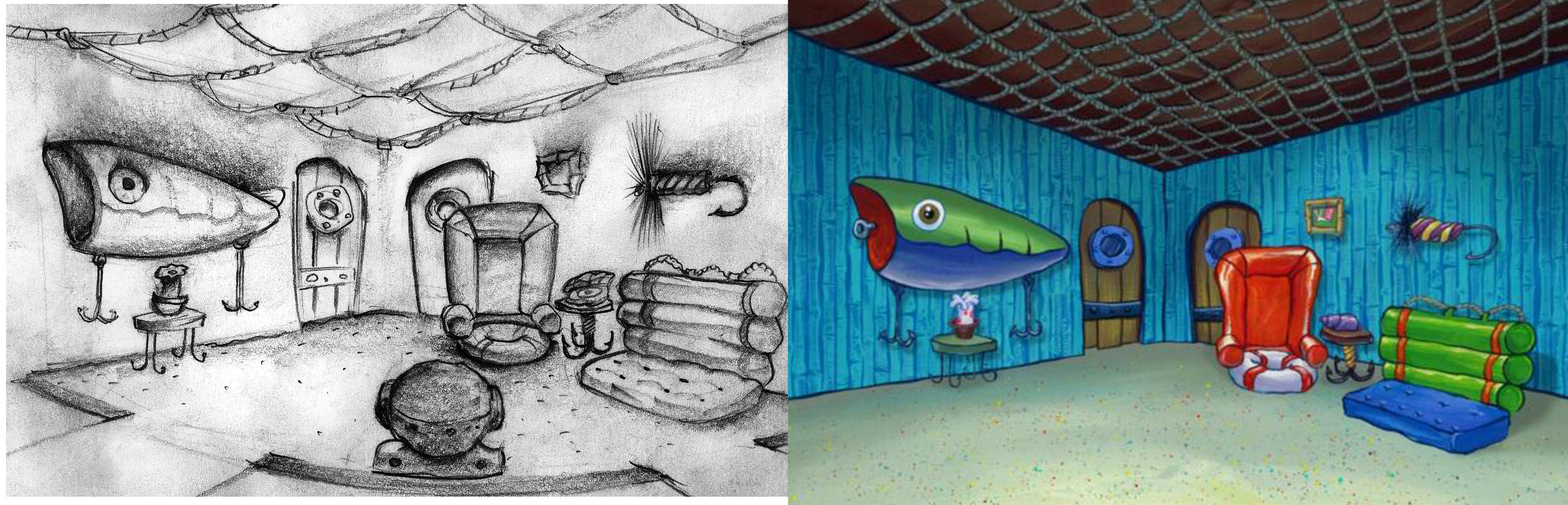 Design for Spongebob's living room