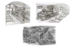 Robots sketches by David Gordon