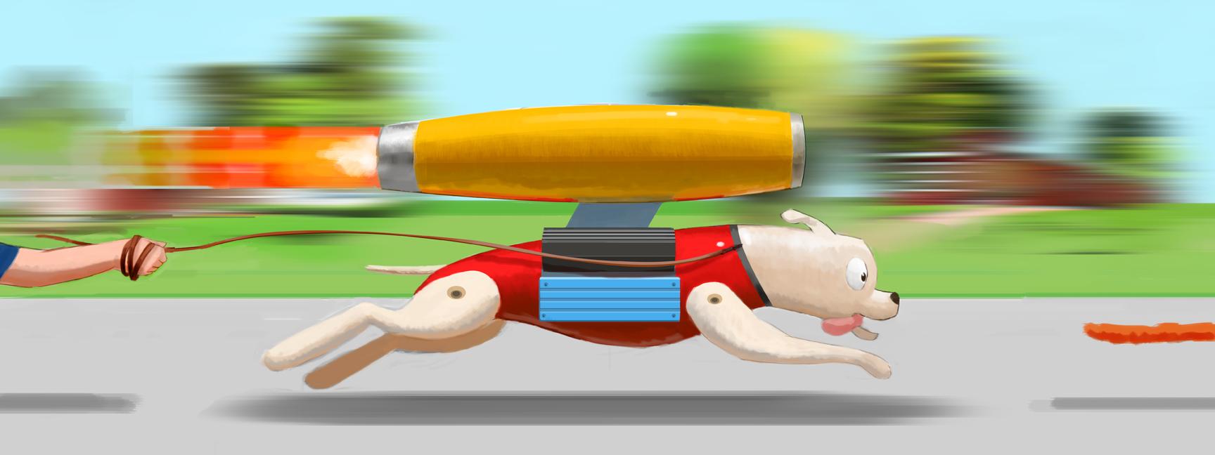 Motor Dog Running