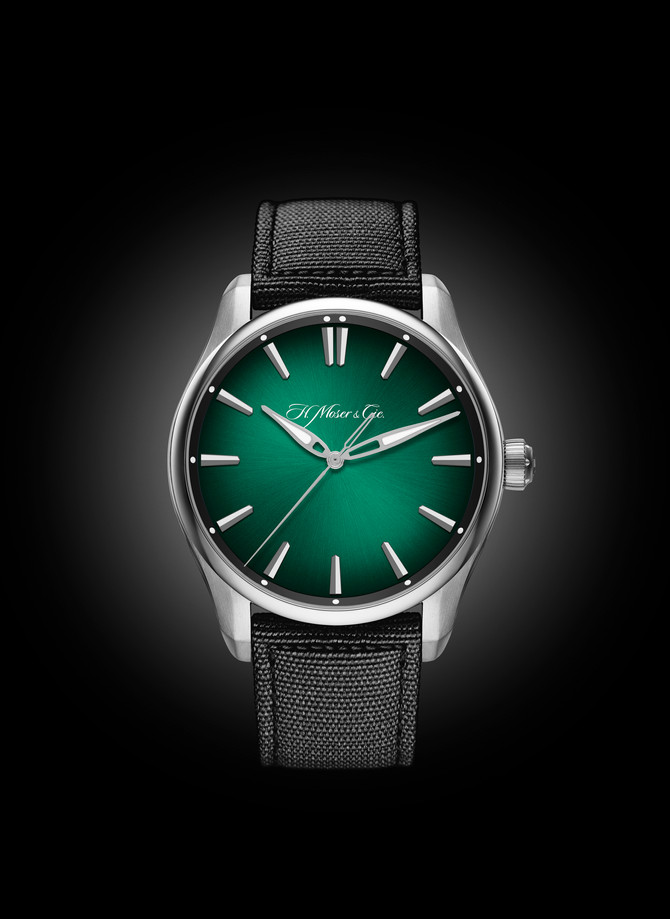 The Pioneer Centre Seconds Cosmic Green by H. Moser & Cie