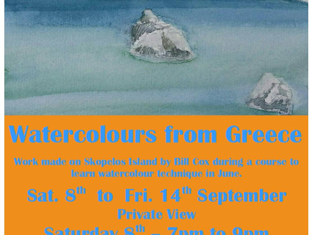 What's on at Number Nine Gallery - Watercolours from Greece