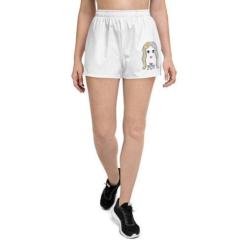 Women's Athletic Short Shorts White