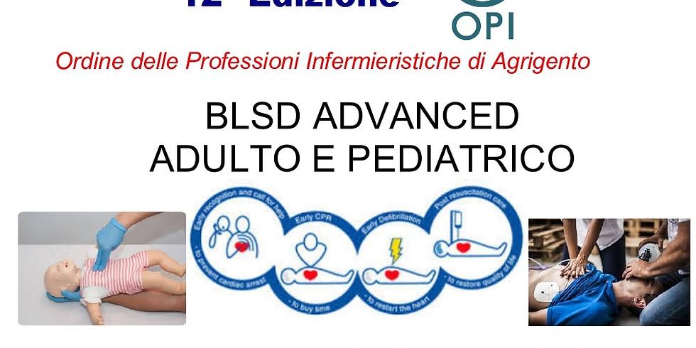 BLSD ADVANCED ADULTO E PEDIATRICO  12° Edizione