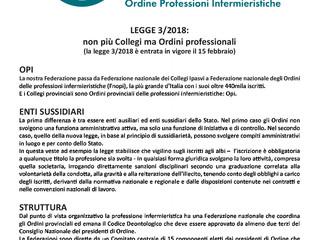 LEGGE 3/2018:  Non più Collegi ma Ordini professionali - In Vigore dal 15 Febbraio 2018