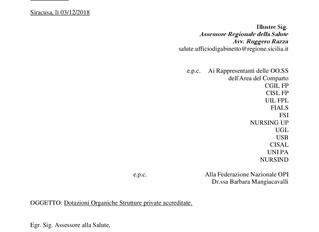 Dotazioni Organiche Strutture private accreditate