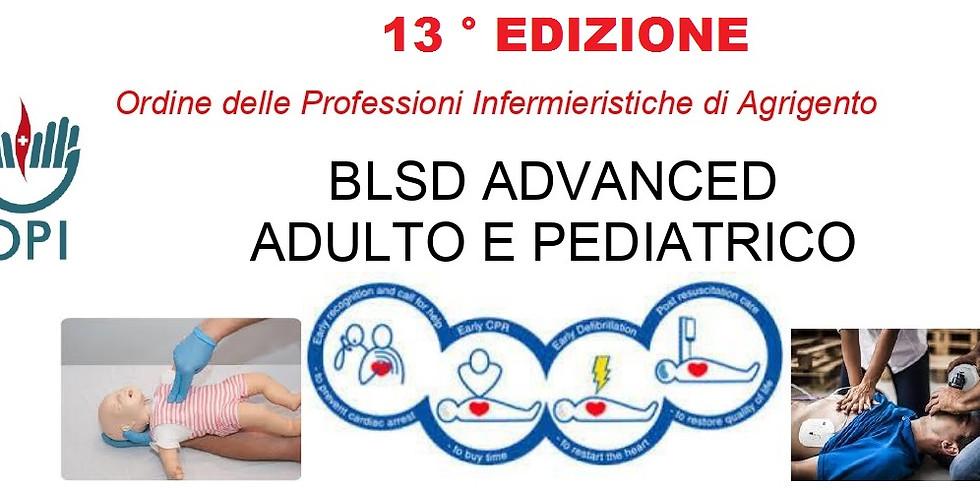 BLSD ADVANCED ADULTO E PEDIATRICO  13° Edizione