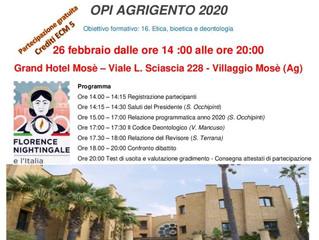 ASSEMBLEA ISCRITTI OPI AGRIGENTO 2020 - Partecipazione Gratuita Cred. Ecm 5