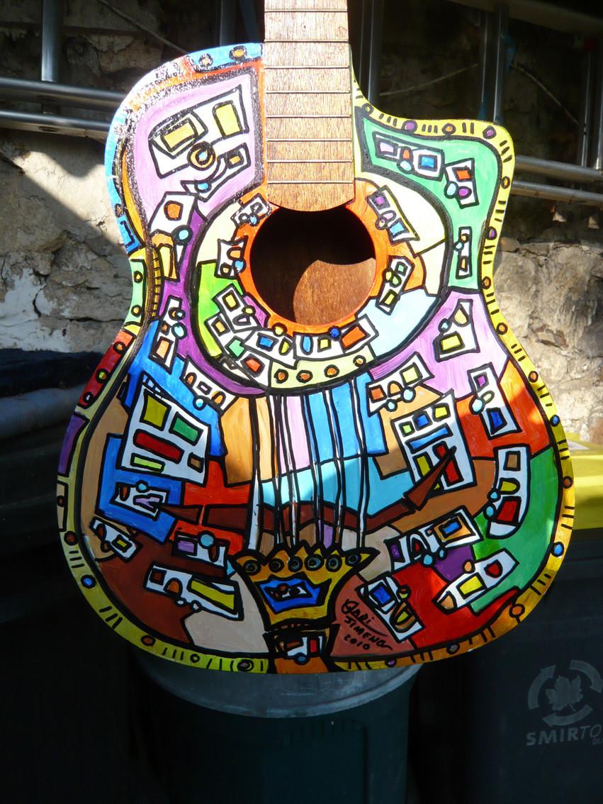 Guitare potence