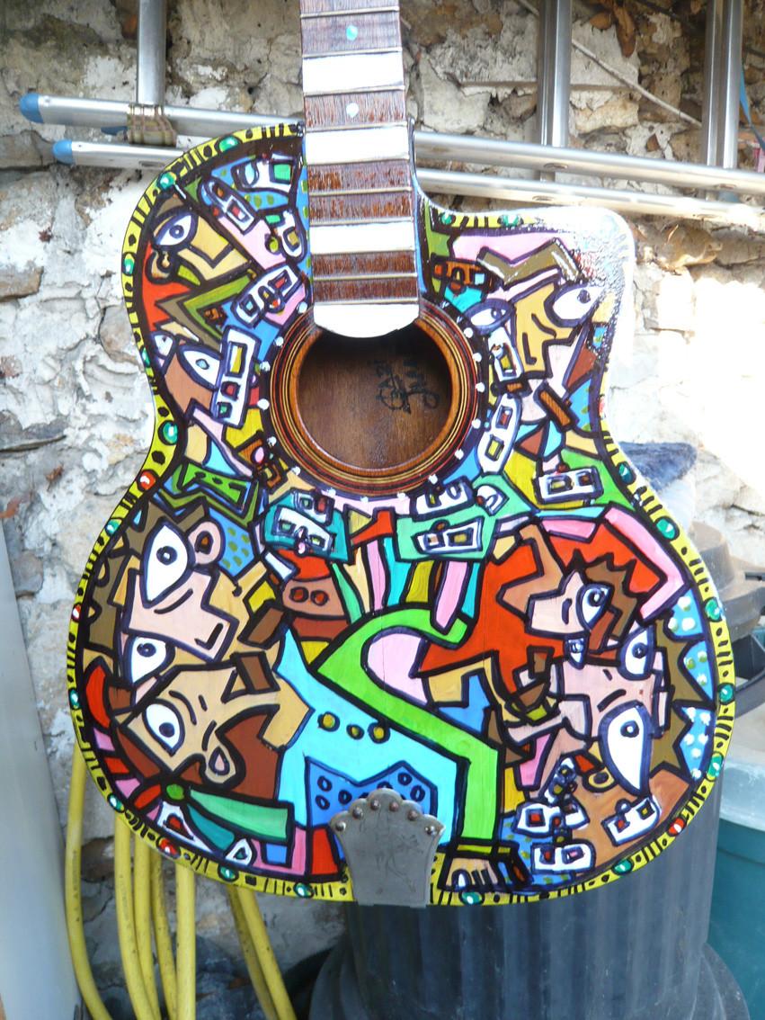Guitare de Frédo des Ogres