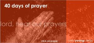 40 days of prayer coming May 18