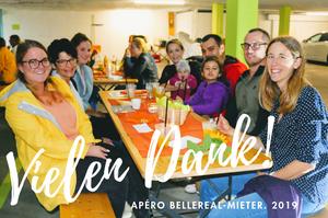 Mieter Apéro BelleREAL 2019