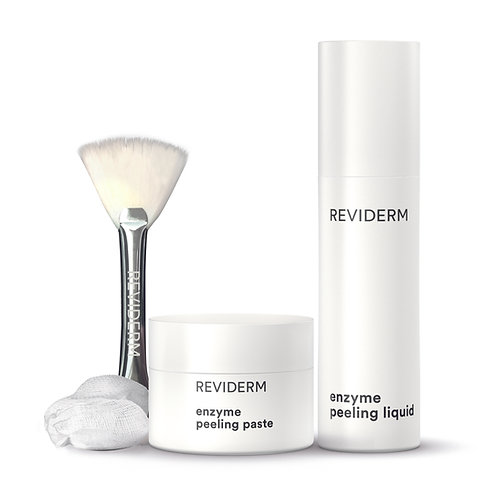 REVIDERM enzyme peeling duo(enzyme liquid&paste+brush,pagasling swab&spatula)