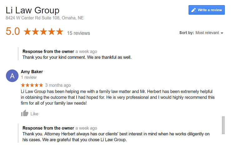 family lawyer reviews omaha