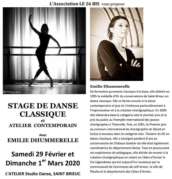 STAGE Classique Emilie Dhumere