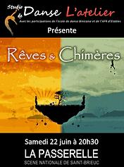 Rêves et Chimères - Studio de Danse L'Atelier à Saint Brieuc Classique Contemporain Modern'Jazz Eveil Danse Africaine