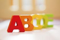 ABC alphabet blocks for kids education.j