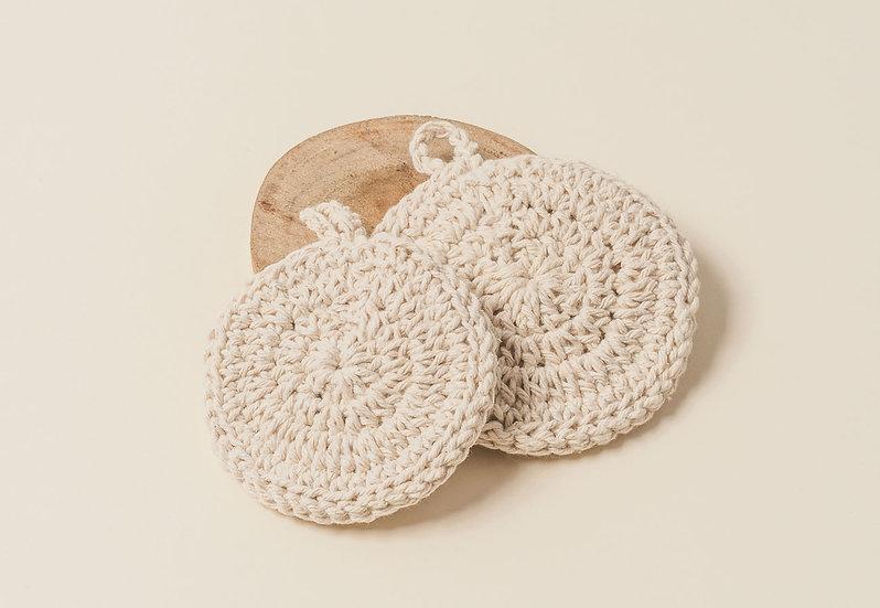 esponja de crochê