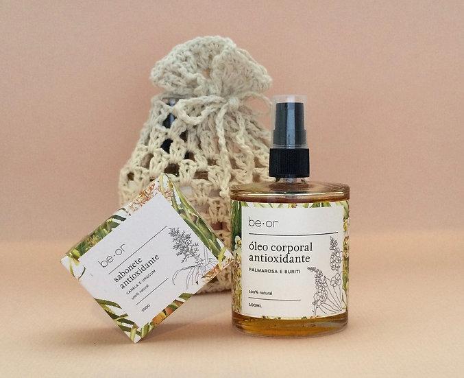 kit corporal óleo e sabonete
